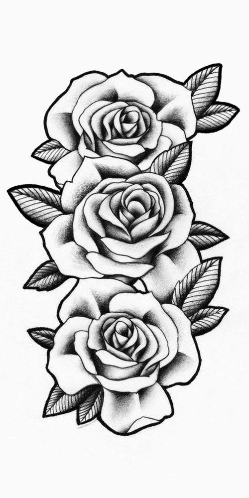 Rosas Sombreadas Rose Drawing Tattoo Tattoos Tattoo Stencils