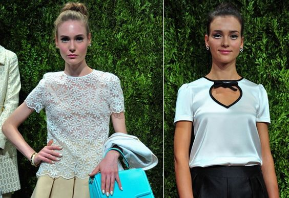 Delineador e esmalte branco se destacam no make de Kate Spade O toque alvo apareceu na apresentação de hoje na Mercedes-Benz Fashion Week, em Nova York, e adornou unhas e cílios das modelos