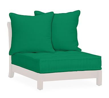 Universal Sectional Box Cushion (Low Platform Armless/RA/LA Chair) - Sunbrella(R) Emerald