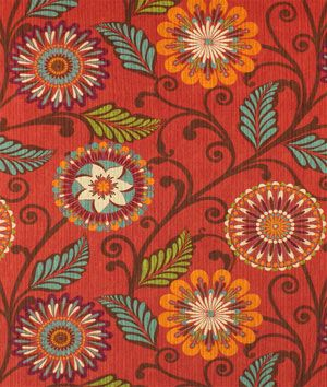 HGTV Urban Blossoms Harvest Fabric | onlinefabricstore.net  For my valances, New wall color, new fabric choice