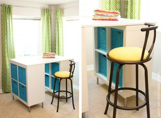 Make  a counter-height craft table!
