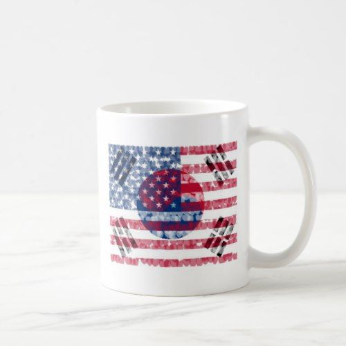 Korean American Flag Mug Zazzle Com In 2020 Korean American American Flag Mugs
