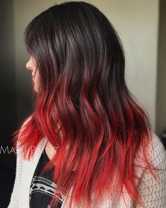 23 Red And Black Hair Color Ideas For Bold Women Page 2 Of 2 Stayglam Hair Color For Black Hair Red Hair Tips Hair Dye Tips