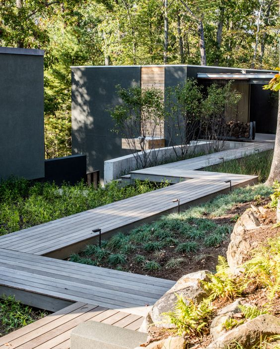 chemin anguleux sol chemin escalier pinterest jardins terrasses et all es de jardin. Black Bedroom Furniture Sets. Home Design Ideas