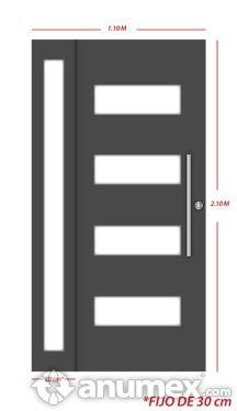 Puerta minimalista casas pinterest guadalajara for Puertas para casas minimalistas