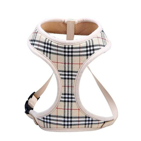 Classic Plaid Adjustable Soft Breathable Harness