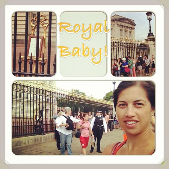 Keshia Grant in London.. great timing #RoyalBaby