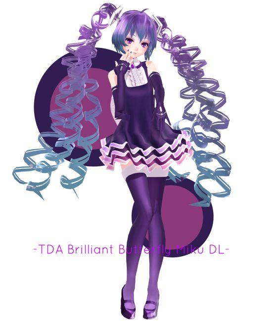.:TDA Beauty Medley/Brilliant Butterfly Miku +DL:. by Sushi-Kittie: