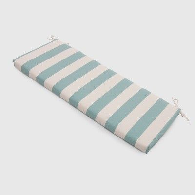 Cabana Stripe Outdoor Bench Cushion Turquoise Threshold Target Bench Cushions Patio Bench Cushions Outdoor Bench