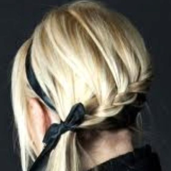 Bridesmaid hair. Bun on the side, no ponytail.