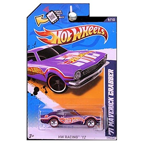 Hot Wheels 71 Maverick Grabber Purple Redlines Hw Racing