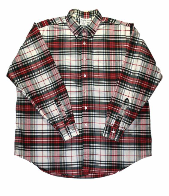 Vintage Brooks Brothers Plaid Shirt Made in USA Mens Size XXL $30.00