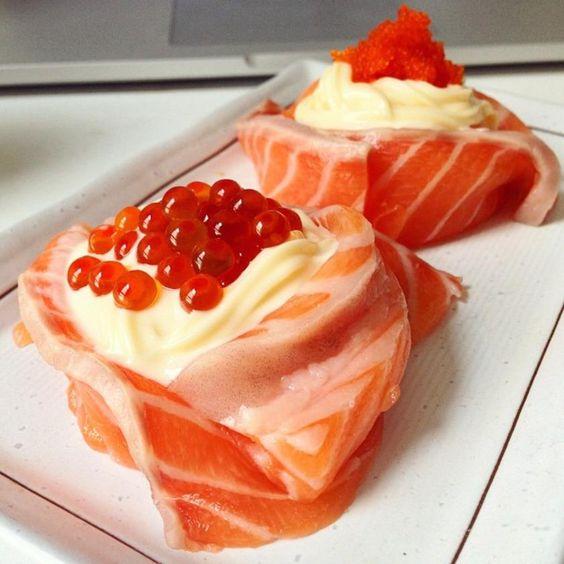 Salmon Sushi Flower