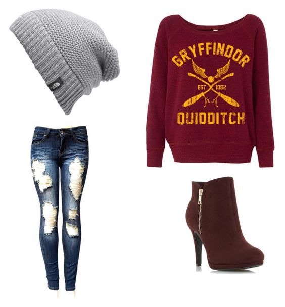 """A hint of geek"" by nerdypanda777 ❤ liked on Polyvore featuring The North Face"
