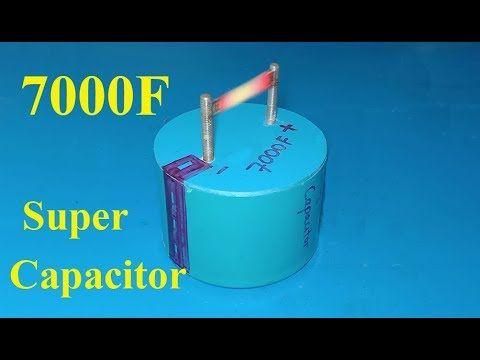 How To Make 7000F Ultra capacitor , DIY Homemade super