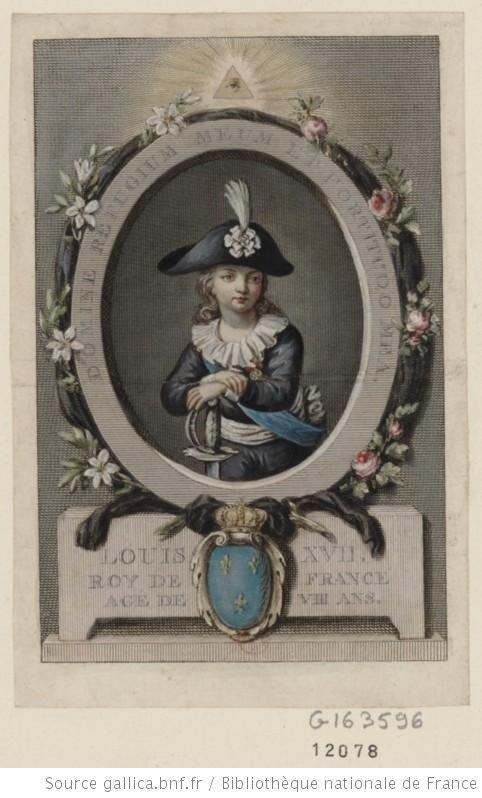 Louis XVII Roy de France agé de VIII ans : Domine refugium meum et fortitudo mea : [estampe] / [non identifié] - 1: