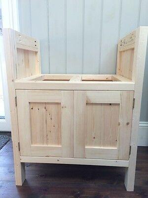 Belfast Sink Unit Solid Wood Freestanding Kitchen Unit Ebay Belfast Sink Freestanding Kitchen Free Standing Kitchen Sink