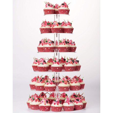 3 4 5 6 Tier Round Acrylic Cupcake Tower Stand Cupcake Stand Dessert Stand Tea Party Serving Platter For Wedding Party Walmart Com In 2020 Cupcake Stand Wedding Wedding Cupcake Display Cupcake Display Stand