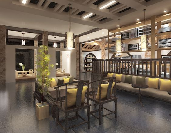 2015 Graduate Design_Yun Lin Shan Ju Resort Hotel Interior Design_Book Bar_Reading