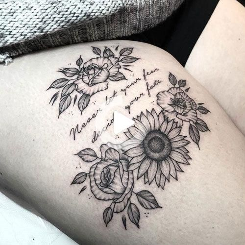 Pin On Thigh Tattoos For Women
