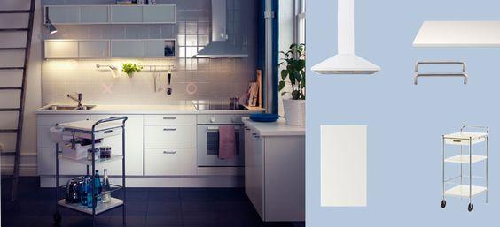 faktum kitchen with h rlig white doors drawers pr gel white worktop and sthamra glass door. Black Bedroom Furniture Sets. Home Design Ideas