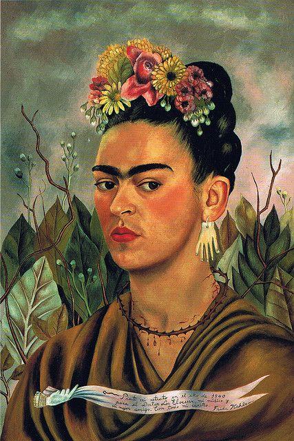 Autoportrait (1940). Peintre : Frida Kahlo. Mots clés : sombre, fermé