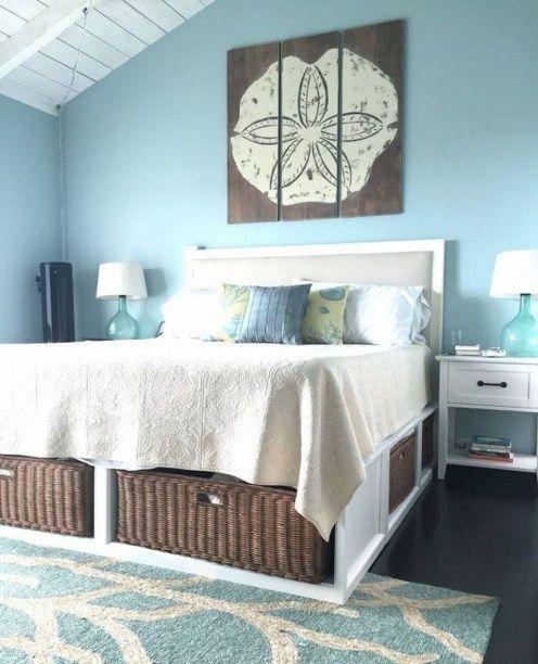 Awesome Beach Coastal Style Bedroom Decor Ideas 17 Beach House Bedroom Furniture Beach Theme Bedroom Decor Ocean Room Decor