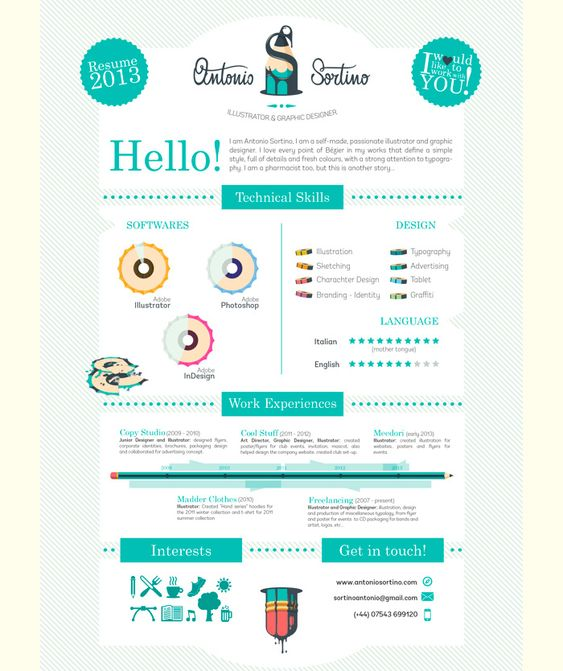 My Resume by Moa Jansson, via Behance CV Pinterest Behance - my resume