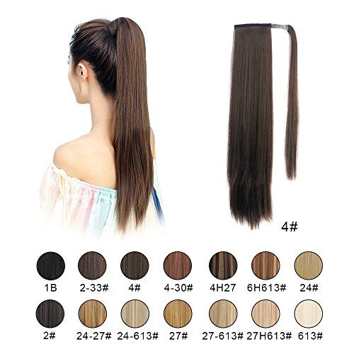 Barsdar 26 Long Straight Wrap Around Synthetic Ponytail Https
