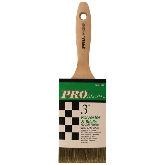 "American Gam PR01965 3"" Pro Brush Polyester & Bristle Paint Brush"