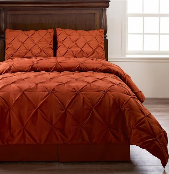 Details About Emerson 4pc Pinched Pleat Comforter Set