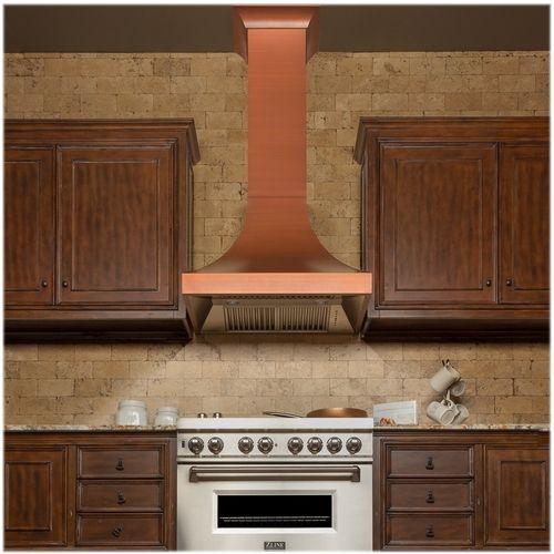 Zline Designer Copper 42 Externally Vented Range Hood Copper 8632c 42 Best Buy Range Hood Wall Mount Range Hood Copper Finish