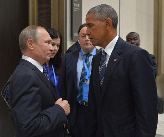 Владимир Путин и Барак Обама в Китае. Фотография — Meduza