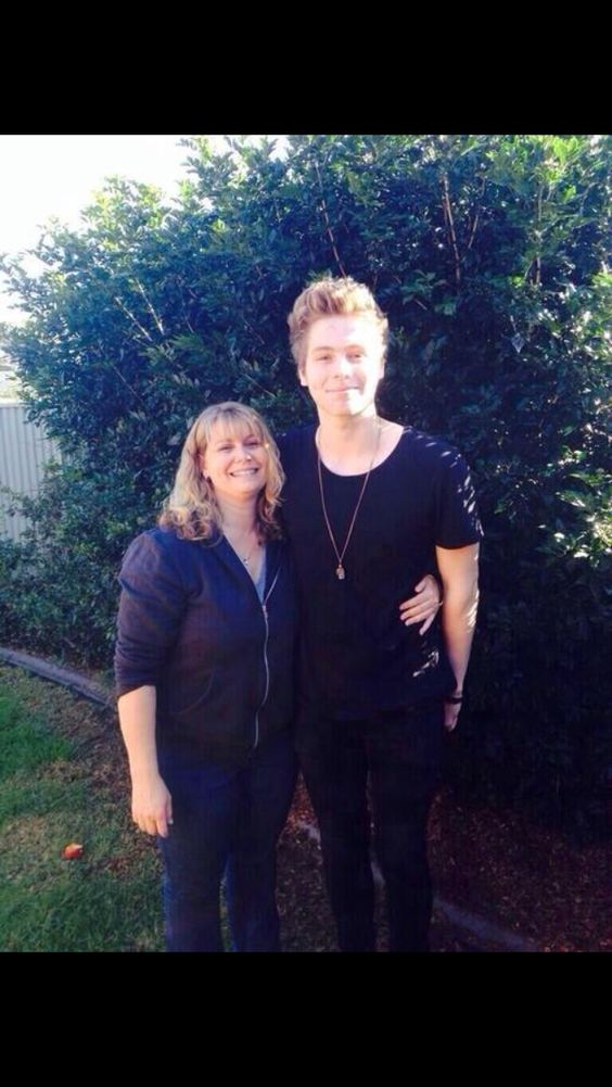 Luke and his mum today