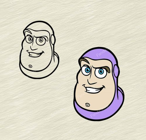 Buzz Lightyear Toy Story 2 Svg Dxf Eps Png Cricut Clipart Rock Painting Patterns Clip Art Poster Prints
