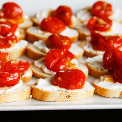 Garlic Tomato Crostini with Ricotta | Recipe | Ricotta, Garlic and ...