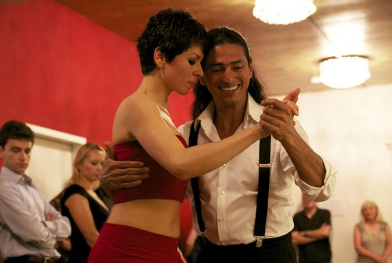 Tango demonstration with Fabián and Michaela at Maillinger Studios, Munich