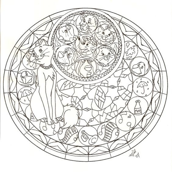 Kh The Aristocats Stained No3 By Cutencuddlypadfoot On Stained Glass Disney Princess Free Coloring Sheets