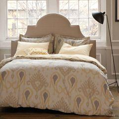 DwellStudio Home Batavia Citrine Duvet Set | More here: http://mylusciouslife.com/luscious-bedrooms/