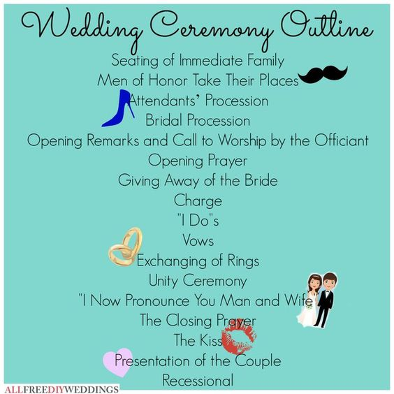 Christian Weddings Vows And Wedding Ceremony Outline On Pinterest