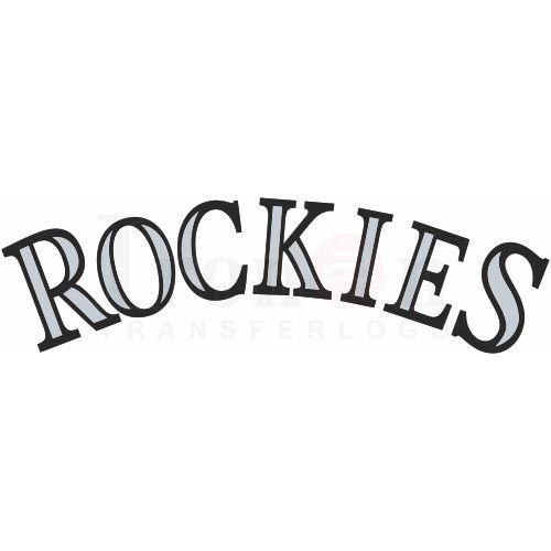 Colorado Rockies Logo Iron On Transfers N3290 $2.00
