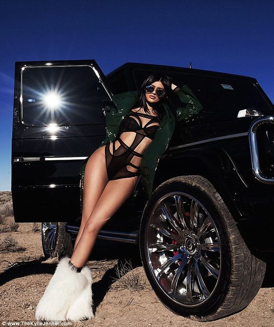 Scorching hot: Kylie Jenner posed for a new photo shoot in the California desert and share...