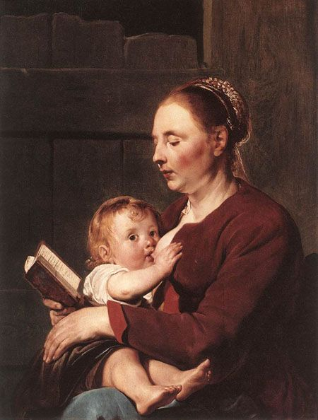 """Painting by Pieter de Grebber,""""Mother and Child"""""""