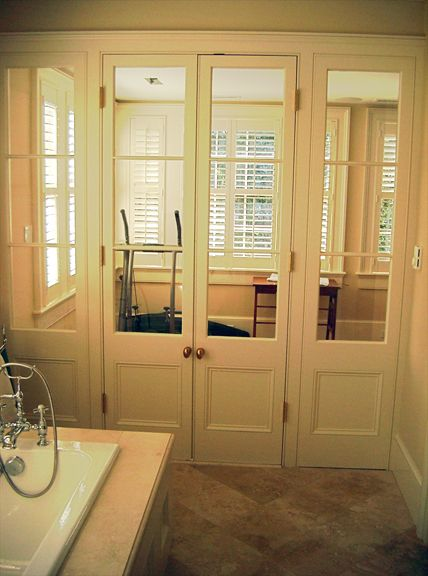 love these doors that lead from master bath to gym!