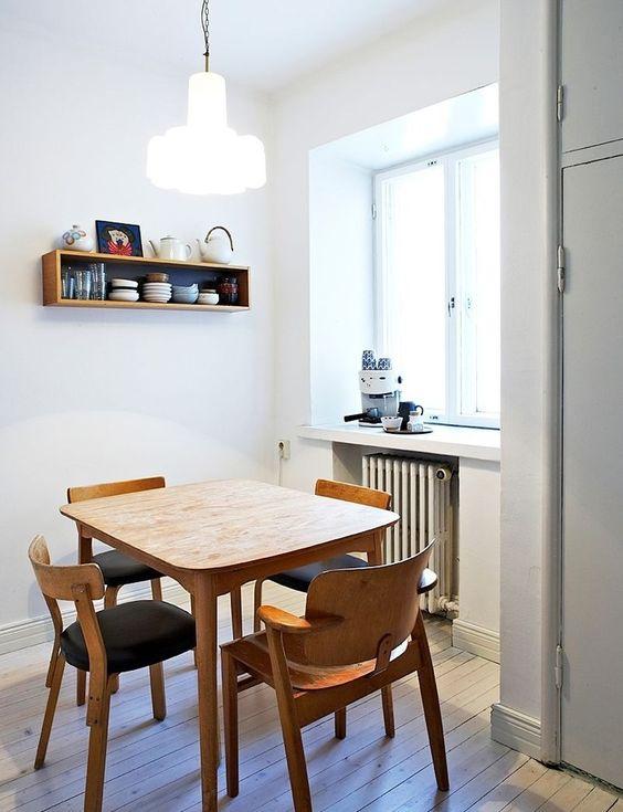 Trending Scandinavian Small Dining Room