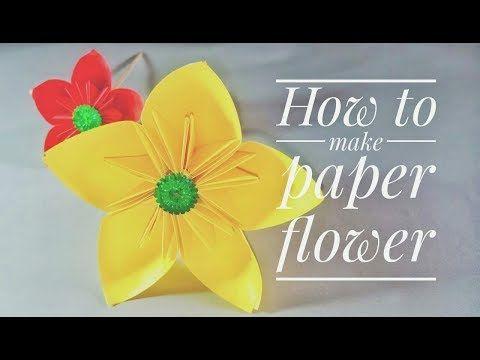 Cara Membuat Bunga Dari Kertas Origami Youtube Bunga Kertas Origami Kertas Origami