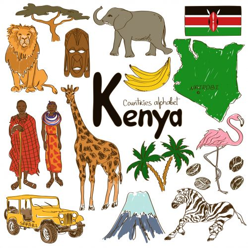 Kenya Culture Map Printable Awesome Clip Art And For Kids
