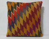 20x20 embroidered pillows DECOLIC garden decor kilim stool nursery decor ideas sitzkissen turkish pillows zig zag 13788 kilim pillow 50x50