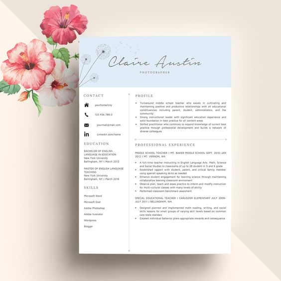 Resume templates, Simple resume template and Simple resume on Pinterest