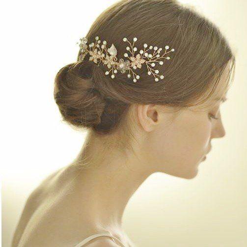 ヘッドドレス ヘッドピース ヘアアクセサリー 髪飾り 小枝アクセサリー
